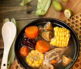 青橄榄鸡骨汤的做法
