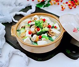 #全电厨王料理挑战赛热力开战!#鲜嫩爽滑的海鲜木耳豆腐羹的做法