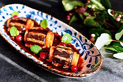 """#百变莓小姐#""""莓""""味茄子酿肉"""