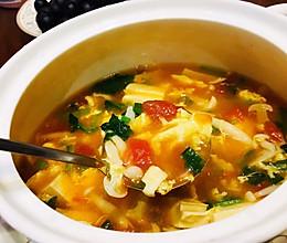 鲜甜减脂豆腐汤的做法