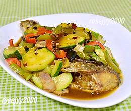 #餐桌上的春日限定#香辣蔬菜铺烤鱼的做法