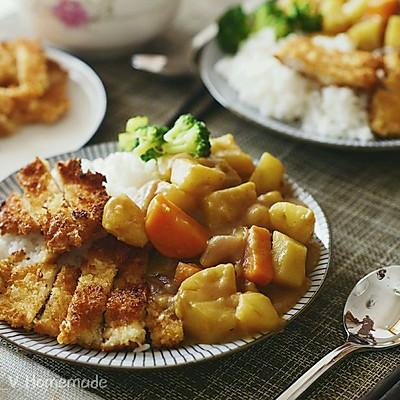 咖喱鸡排饭【炸鸡排】