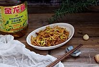 黄豆芽炒肉的做法