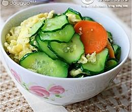 黄瓜炒鸡蛋:最简单不过的家常菜的做法