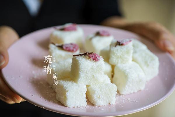 樱花牛奶小方的做法