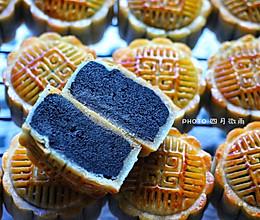 广式黑芝麻莲蓉月饼的做法