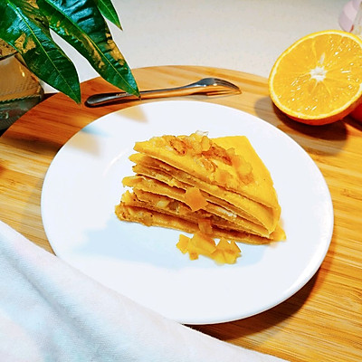 橙香煎饼的做法 步骤6
