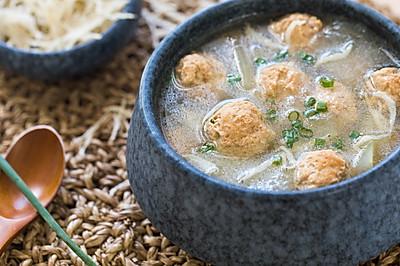 冬瓜银鱼丸子汤