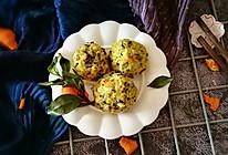萝卜木耳玉米团子#中式减脂餐#的做法