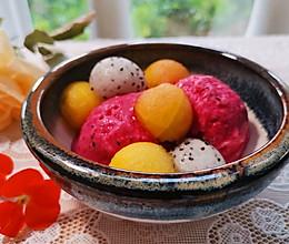 甜品类:不需用蛋黄、不用搅拌的红龙果冰淇淋,这颜值,简直了的做法