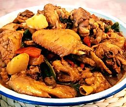 大盘鸡(拌面)的做法