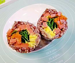 减脂碳水炸弹~三色糙米饭团的做法