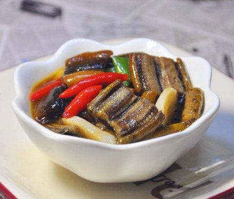 黄鳝赛人参:辣炒鳝片