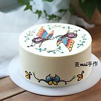 淡奶油手绘蛋糕#安佳烘焙学院#