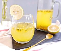 #夏日冰品不能少#百香果柠檬蜜冰饮的做法