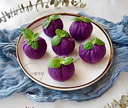 紫薯豆沙茶巾绞#硬核菜谱制作人#的做法