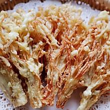 #憋在家里吃什么#酥炸金针菇