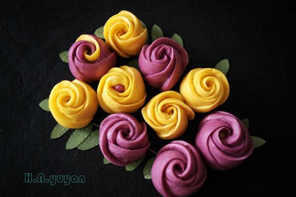 玫瑰花馒头  面食也可以如此华丽的做法
