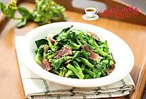 腊肉炒白菜苔#舌尖上的春宴#的做法