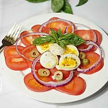 番茄鸡蛋橄榄沙拉