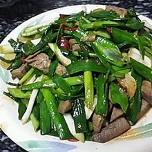 蒜苗爆炒猪肝