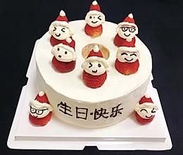 草莓小雪人☃️生日蛋糕的做法