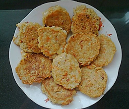 香煎虾泥藕饼的做法