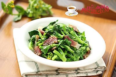 腊肉炒白菜苔#舌尖上的春宴#
