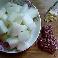 #做道懒人菜,轻松享假期#+肉末烧冬瓜的做法图解2