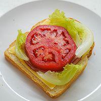 萌娃芝士三明治-爱冒险的朵拉DORA #百吉福食尚达人#的做法图解5