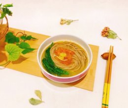 简单快手营养保健~番茄炝锅粗粮荞麦面的做法