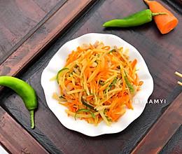胡萝卜炒土豆丝的做法