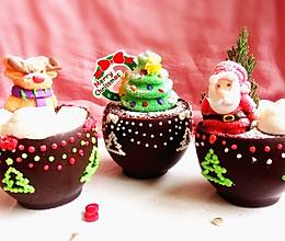 布朗尼圣诞盆栽蛋糕(盆子也可以吃哦)#九阳烘焙剧场#的做法
