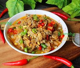 酸笋炒蛤蜊肉的做法