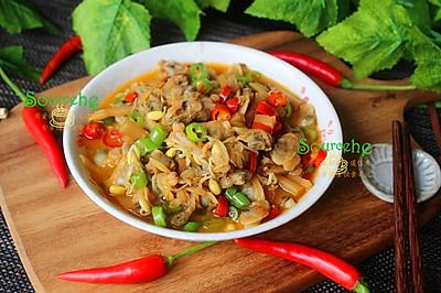 酸笋炒蛤蜊肉