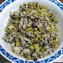 榄菜四季豆炒饭