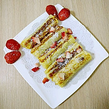 小熊熊创意料理之巧克力爆浆草莓卷(甜蜜升级)