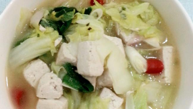 白菜烩豆腐的做法