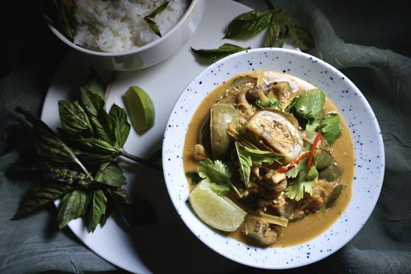 青咖喱炖泰国绿茄子-也许是你还未曾谋面的美食的做法