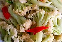 炒花菜的做法