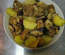 土豆香菇鸡腿的做法