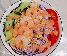 超级简单的减脂蔬菜沙拉的做法