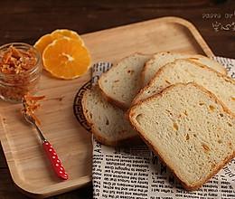 【橙皮淡奶油吐司】——口感赞爆的面包机一键吐司的做法