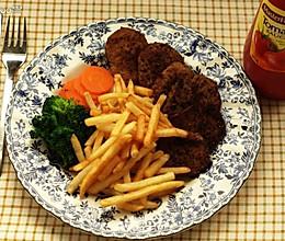 黑椒素牛排套餐的做法