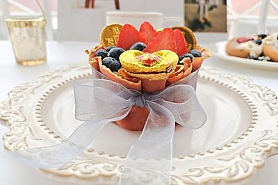 教你自制新年福袋蛋糕,满满的福气送给你