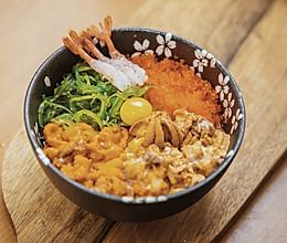 #餐桌上的春日限定#周末在家做海胆|超正宗日式海鲜饭的做法