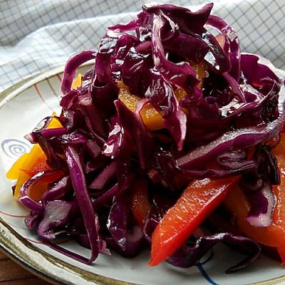 彩椒紫甘兰(凉拌菜)