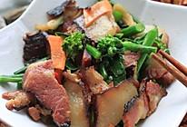 芥兰炒湘西腊肉的做法