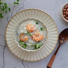 西兰花虾仁粥