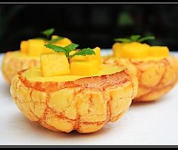 芒果布丁菠萝包的做法